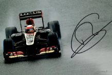 Romain Grosjean Autograph Signed Photo - Lotus